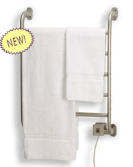 warmrails heated towel warmer and towel drying racks see all warmrails regent hardwired softwired combination wall mount towel warmer